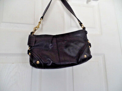 29592d24eff9 Coach Carly 10731 Nice Black Leather Small Handbag wristlet • 35.99