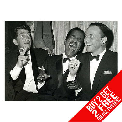 The Rat Pack Las Vegas Sinatra Poster Art Print A4 A3 - Buy 2 Get Any 2 Free • 6.99£