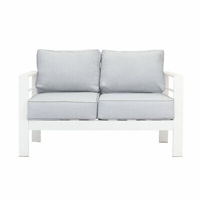 AU369.99 • Buy New White 2 Seater Aluminium Outdoor Sofa Lounge Setting Furniture Arms Chairs