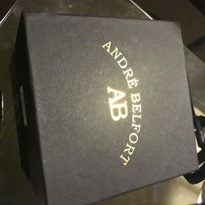 £700 • Buy Andre- Belfort Le Capitaine Watch Gold Black With Sapphire Glass
