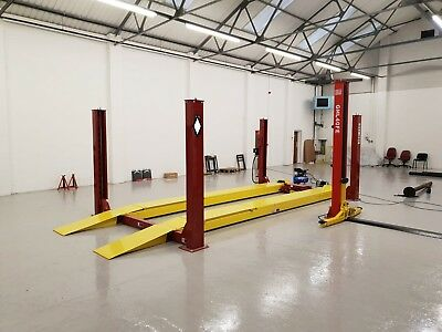 3d 4 Post Alignment Lift Ramp 4.5t With T/tables Slips Jack 5m Ramps £3997 + Vat • 4,796.40£