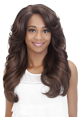 $59.02 • Buy Vivica Fox Lace Front Wig 24  Romance Body Curl With Feather Bang - HONEY