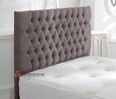 Chesterfield Floor Standing Upholstered Headboard Single Double King Size Super  • 129£