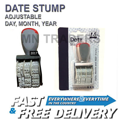 £1.99 • Buy Manual Rubber Date Stamp Stamper School Home Office Work 2018 To 2029