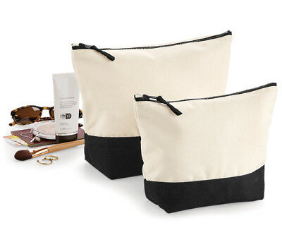 £7.25 • Buy Womens Ladies Canvas Make Up Toiltery Wash Bag Large Travel Cosmetic Accessory