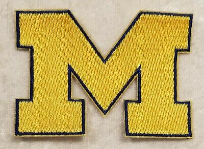 $6.95 • Buy Michigan University Wolverines 3  Iron On Embroidered Patch ~FREE Ship`!!
