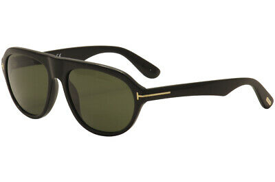 d1c0b9ab69e6e Tom Ford Men s Ivan TF397 TF 397 01N Black Gold Sport Sunglasses 58mm •