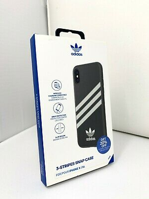AU22.24 • Buy New Authentic Adidas 3-Stripes Samba Snap Case For IPhone X & XS - Black White