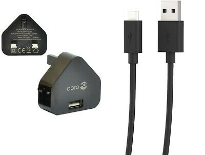 Genuine Doro Mains Wall Charger Or Micro Usb Cable 8030 611 612 632 622 409 410  • 5.49£