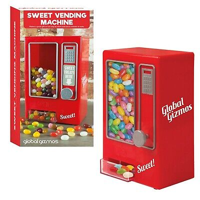 Retro Mini Sweet Vending Machine Children's Jelly Bean Candy Dispenser Kids Toys • 14.99£