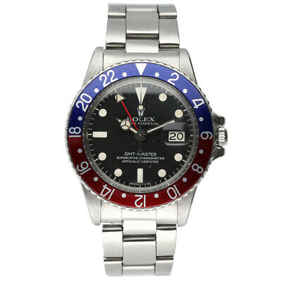$ CDN17287.60 • Buy Rolex GMT-Master 1675 Pepsi Stainless Steel Black Dial 1978 W/B Men's Watch