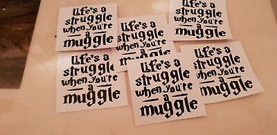 £3.60 • Buy 6 X Harry Potter Wine Glass Quotes  Vinyl Decal Stickers Party Free P.P