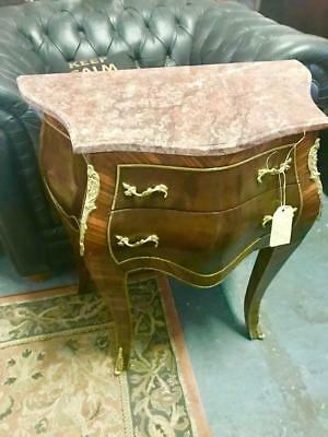 AU499 • Buy French Louis Pink Marble 2 Drawer Highly Varnished Bombe/commode Gold Ormolus.