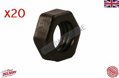 20x NYLON PLASTIC FULL NUTS FOR M8 SCREWS AND BOLTS 8mm BLACK • 2.90£