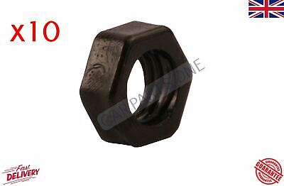 10x NYLON PLASTIC FULL NUTS FOR M8 SCREWS AND BOLTS 8mm BLACK • 2£