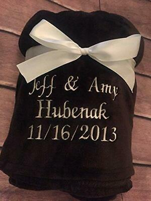 Personalized Plush Throw Blanket By Wedding Tokens • 36.18£