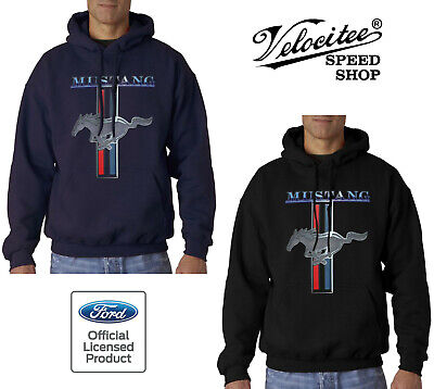 £20.95 • Buy Velocitee Speed Shop Mens Hoodie Official Licensed Ford Mustang Pony Logo A13732