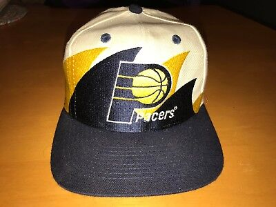 finest selection 158de d7ac1 Mens Vintage Logo Athletic Double Shark Tooth Indiana Pacers Nba Basketball  Hat • 21.00