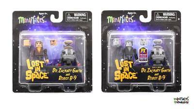 AU38.30 • Buy Lost In Space Minimates Lot Dr. Zachary Smith & Robot B-9 Color And B&W 2-Packs
