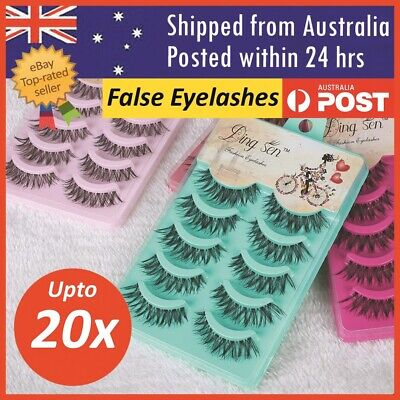 AU6.99 • Buy False Eyelashes Eye Lashes Natural Thick Fake False Lash Handmade Extension