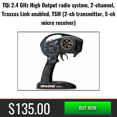 $ CDN1515.11 • Buy Traxxas 2ch TQi Radio Transmitter Remote TSM Receiver 4x4 Rustler VXL 2.4GHz New