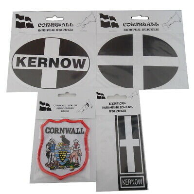 Novelty Cornish Car Stickers And Coat Patches, Cornwall, Bumper, Kernow  • 1.75£