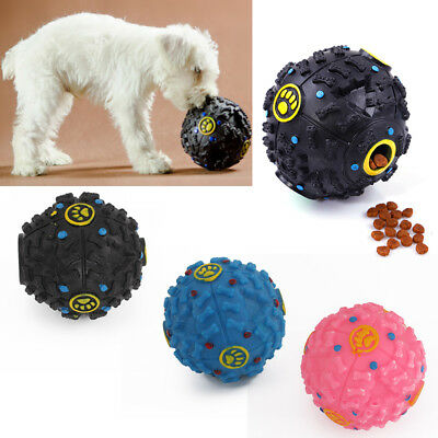 Pet Dog Giggle Ball Tough Treat Sound Activity Training Squeaky Chew Toy Fetch • 5.39£