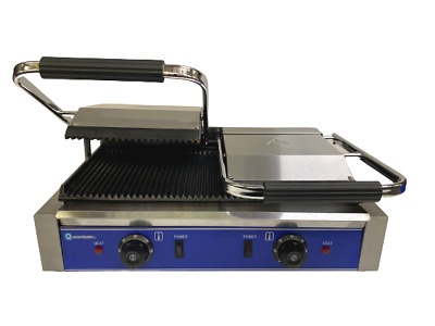 Catering Clamp Grill Double Sided Panini Press Twin Contact Grill Commercial • 219.99£