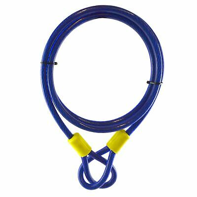 1.8m X 10mm Security Cable Cut Resistant Braided Twisted Steel Loops Lock TE950 • 7.55£