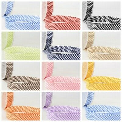 £2 • Buy La Stephanoise Bias Binding - 30mm Wide Tiny Gingham In 11 Colours Free Postage