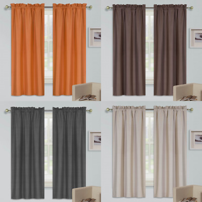 $17 • Buy 1 Set Rod Pocket Window Dressing Lined Panel Curtain Blackout Foam Thermal R64