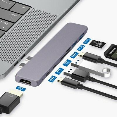 AU22.99 • Buy Type-C USB-C Hub Adapter Multi Port Thunderbolt 3 For MacBook Pro/Air 2018 2017