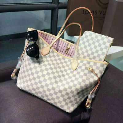 e1ca7322e0f   Authentic LOUIS VUITTON Damier Azur Canvas Neverfull GM Tote Bag • 500.00