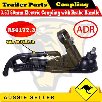 AU61 • Buy Superior 3500 Kg 50mm Electric Trailer Hitch Coupling With Brake Handle Black