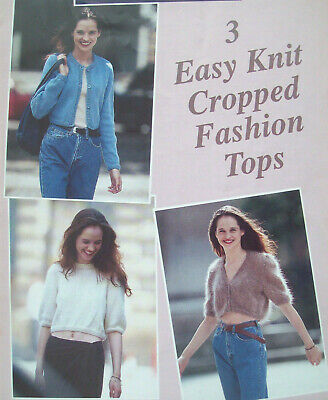 Ladies Crop Cardigan Sweater Bolero KNITTING PATTERN DK Mohair 30 - 40  6006  • 1.99£