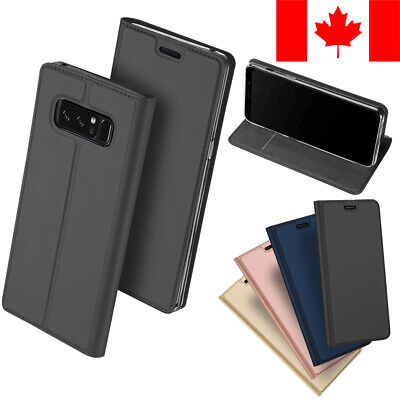 $ CDN9.99 • Buy Slim Leather Flip Wallet Card Holder Case For Samsung Galaxy Note 8
