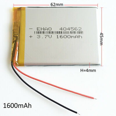 £6.99 • Buy 3.7V 1600mAh LiPo Rechargeable Battery For Camera Mobile Phone GPS PDA 404562