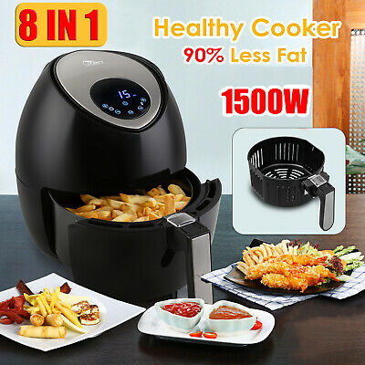 View Details 4.5L Air Fryer Pan Cooker 1400W Digital Low Fat Health Food Oil Free Oven XL • 57.99£