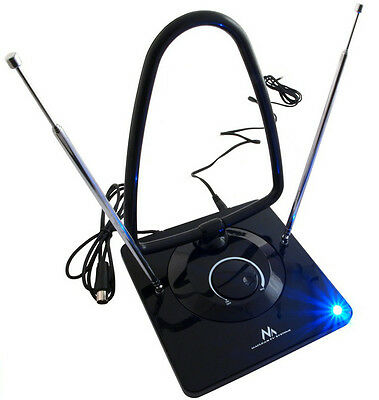 High Gain Indoor Aerial Antenna Low Noise Digital Analog Freeview FM DVB-T 45dB • 19.14£