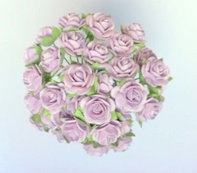 £3.80 • Buy 50 LILAC MULBERRY PAPER OPEN ROSES/FLOWERS 1cm (10mm) And 1.5cm (15mm)