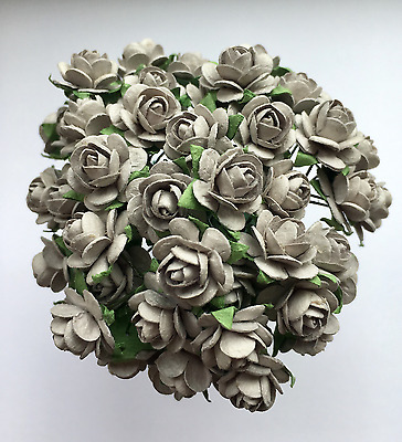 £4.10 • Buy 50 GREY MULBERRY PAPER OPEN ROSES/FLOWERS 1cm (10mm) And 1.5cm (15mm)