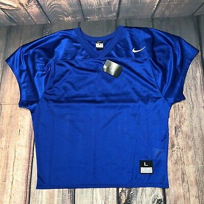 8aae32b88 NWT Nike Mens Core Mesh Practice Football NFL Jersey Sz L Blue (659180) NEW