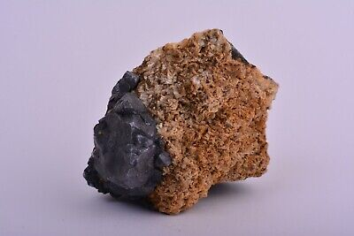 GALENA On ANKERITE Mineral Crystal Specimen Nenthead Cumbria England UK DLL020 • 9.99£