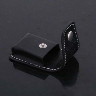 $2.02 • Buy Black Genuine Leather Clip-On Lighter Sheath Pouch/Case/Holster Tool 62x35x15mm
