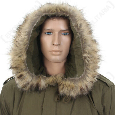 $32.89 • Buy US M51 Parka Hood With Faux Fur - Olive Drab America Army Military Repro New