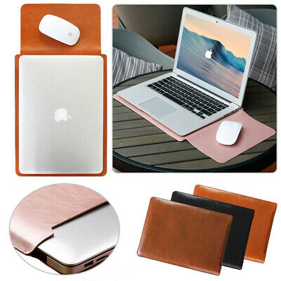AU22.19 • Buy PU Leather Laptop Sleeve Bag Case Pouch For MacBook Air 11 12  Pro 13  15  INCH