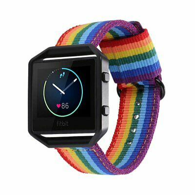 $ CDN23.77 • Buy Fitbit Blaze Bands Denim Fabrics Rainbow Band Replacement W Black Frame Buckle