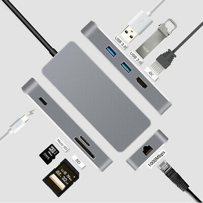 AU22.99 • Buy Certified USB C Hub 7in1 Aluminum Multi Port Type C To HDMI 4K+Ethernet+ USB 3.0