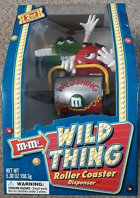 $34.56 • Buy M&M's Wild Thing Roller Coaster Dispenser Limited Edition Rare Silver M & Mm