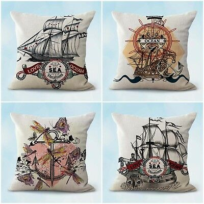 £22.59 • Buy Set Of 4 House Accessories Online Sealife Nautical Cushion Covers